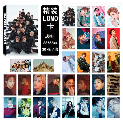 30pcs/Set Kpop NCT U 127 Dream Lomo Paper Cards Collective Self Made Photocard Fans Gift Collection Star Concert Party YLM9449