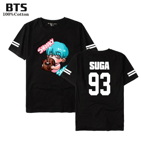 BTS BTS K-pop  Tshirt Women/Men Summer Lovely Short Sleeve Casual Cotton Anime T-shirts Women Short Sleeve Tops Tee Clothes