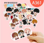 7 Kind Cute Expression BTS Stickers Youth Group Cartoon Handpainted Q Version Sticker For Luggage Laptop Notebook For Kid