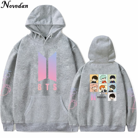 BT21 Hoodie Sweatshirt BTS Kpop Cosplay Hoodies Moletom Men Women Harajuku Kawaii BTS BT21 K pop Bangtan Boy Anime Hoodies