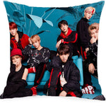 Hot Cute BTS Plush Toys Pillow Case Bedding K-pop Love Yourself Home Decor Cushion Cover Throw Bangtan Boys toys for children