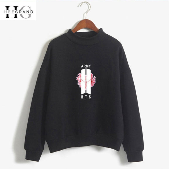 HEE GRAND 2018 Women Print Sweatshirt Pink Hoodies BTS Candy Color Girls Cool Sweatshirt Fashion White Tops Plus Size XXL WWW979