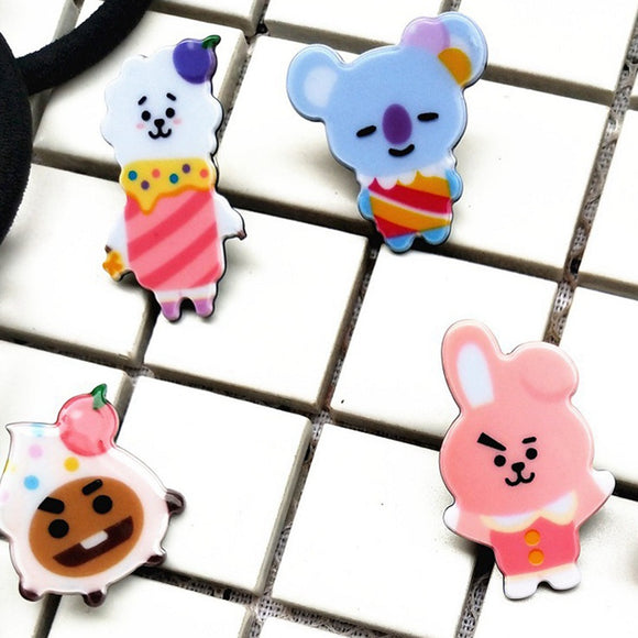 Kpop BTS Bangtan Boys Album Brooch Pin Badge Accessories For Clothes Hats Clips Corsages Brand Bijoux Brooch Bijouterie
