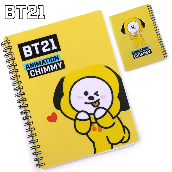 Kpop BTS BT21 VAN MANG CHIMMY TATA RJ KOYA SHOOKY COOKY Notebook Diary Memo Study Work Log Workbook Stationery ARMY Gift DIY