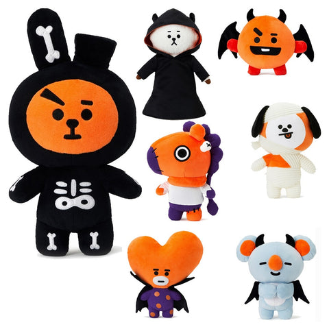 Kpop home for bangtan boys around BTS Halloween BT21 same Q version cartoon Doll TATA COOKY CHIMMY plush toy