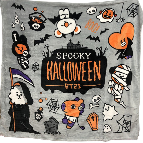 Kpophome for bangtan boys around BTS Halloween BT21 same Q version cartoon TATA COOKY CHIMMY plush Print nap blanket