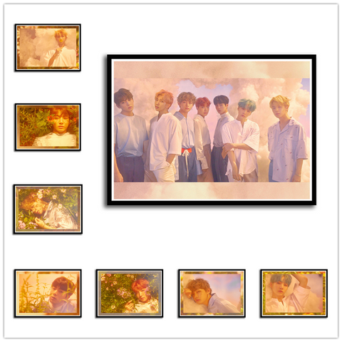 BTS Posters Love Yourself Kpop Music Wall Stickers High Definition Home Decoration Home Art 42*30cm No frame