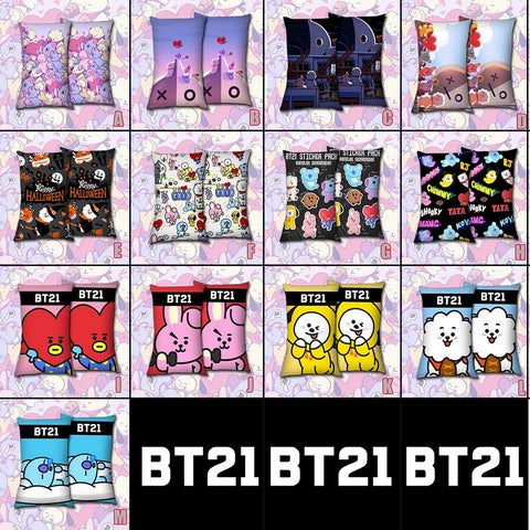 "16x24"" Kpop BTS BT21 Pillow Case ARMY VAN CHIMMY TATA COOKY RJ KOYA SHOOKY Pillow Case Cover Dakimakura Cushion Hugging Body"