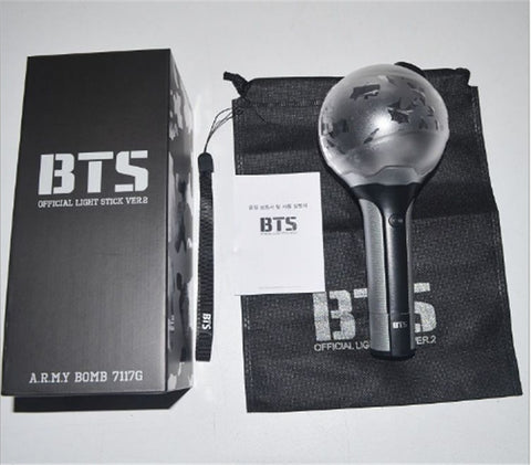 Biamoxer New Kpop BTS Bangtan Boys ARMY a Limited Edition Ver. II Concert Lamp VER 2 Korea glow stick lamp army Bomb Light Stick