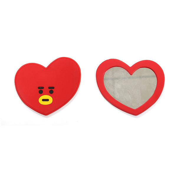 Oppa Store Korea BTS creative portable bt21 TATA bangtan boys cartoon portable mirror Cute makeup jewelry fashion accessories