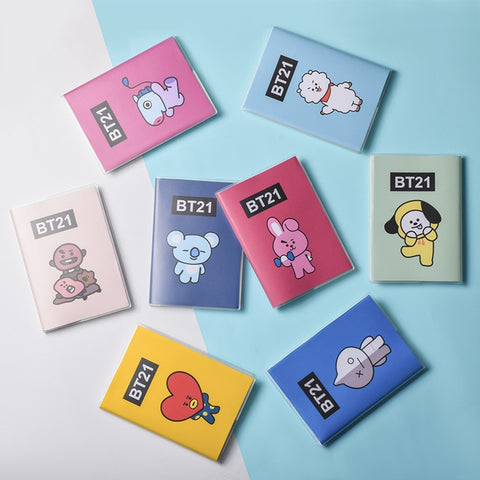 New Kpop BTS Fashion Korean Style Cartoon Cute BT21 Note Book Bangtan Boys ARMY Diary Travel Journal Books Memorandum