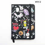 KPOP BTS Bangtan Boy Cartoon BT21 GOT7 TWICE SEVENTEEN WANNA ONE PU Notebooks Soft Copy Army Bomb Note Pads