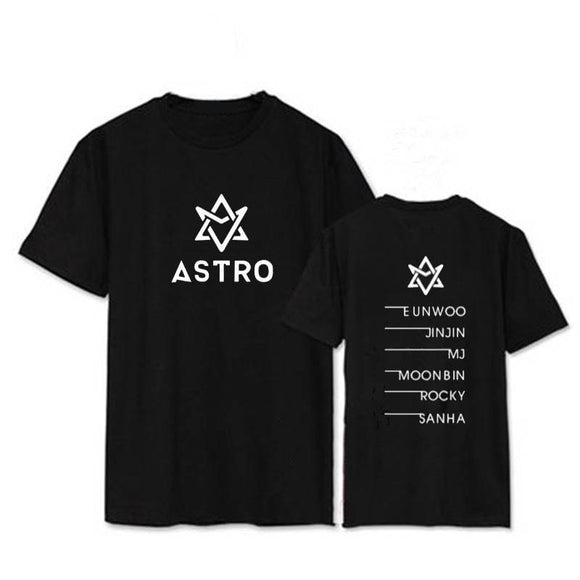 ONGSEONG KPOP Astro MJ JINJIN SANHA MOONBIN Album Shirts Casual Cotton Clothes Tshirt T Shirt Short Sleeve Tops T-shirt DX354