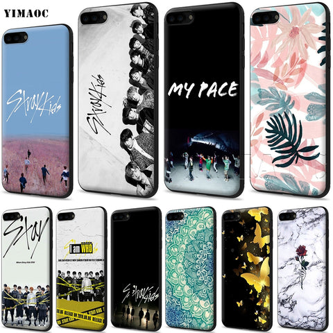 YIMAOC Stray Kids Silicone Soft Case for iPhone XS Max XR X 8 7 6 6S Plus 5 5S SE