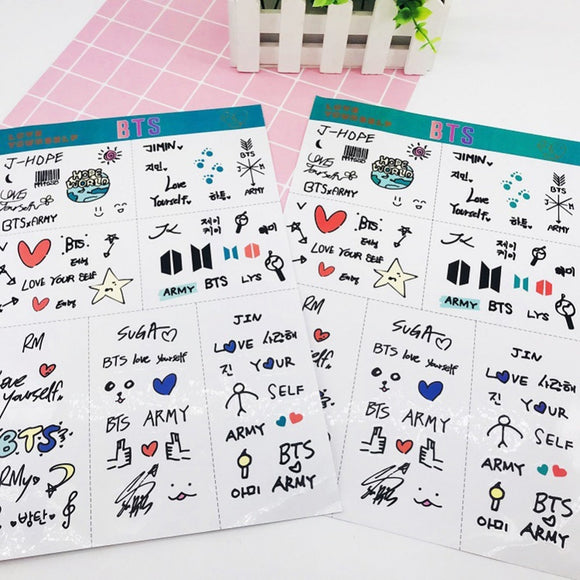 KPOP  BT21 New Pattern Self-Adhesive Sticker Notebook Dairy Decor PVC Wall Sticker DIY Scrapbooking Party Decoration#290207