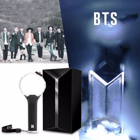 PCMOS Kpop BTS Army Bomb Ver.3 Light sticks for Concern ARMY BOMB Bangtan Boys Glow Lamp Gifts Collection with 7 cards Kpop BTS
