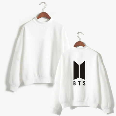 Fashion BTS Kpop Clothes Female Sweatshirt Korean Style BT21 Print Pullover BTS Jungkook Jimin Suga Streetwear Winter Coat Women
