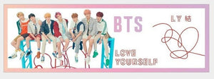 1 Pcs Kpop BTS Love Yourself Tear Concert Airport Fabric Banner Bangtan Boys Hang Up Poster Fans Gift Support Banner Stationery