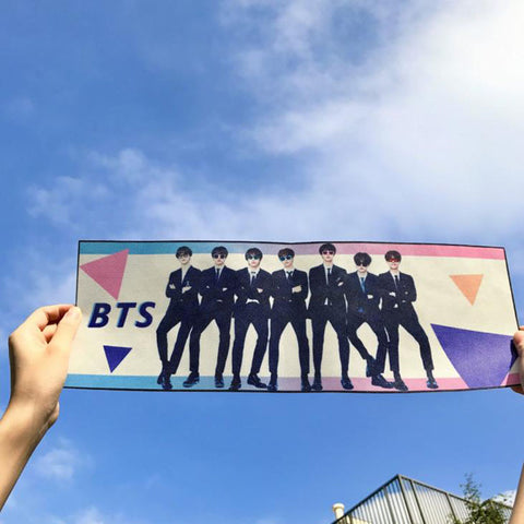 1 Pcs Hot Sale Kpop BTS Bt21 Bangtan Boys JUNGKOOK V Love Yourself Concert Support Hand Banner Fabric Hang Up Poster