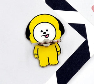 1 Pc NEW Hot BTS BT21 Bangtan Boys Phone Stand 360 Degree Universal Finger Rings phone Holder Ring Buckle Figure Toys kids gift
