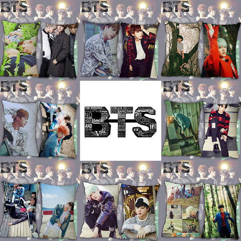 "Wellcomics 16x24"" Kpop BTS Bangtan Boys Jimin Jin J-HOPE Jung Kook Pillow Case Cover Dakimakura Cushion Hugging Body Home Decor"