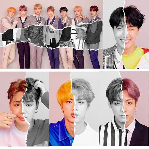 2018 Fashion BTS Bangtan Boys New Ablum Love Yourself Answer Poster Fans Gift Stationery Stickers for Classic Toy stickers