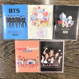 1 Pcs Kawaii Bangtan Boys Mini Diary Exercise Book Blackpink Twice Cartoon Notebook Kpop BTS Official Korean Stars Stationery