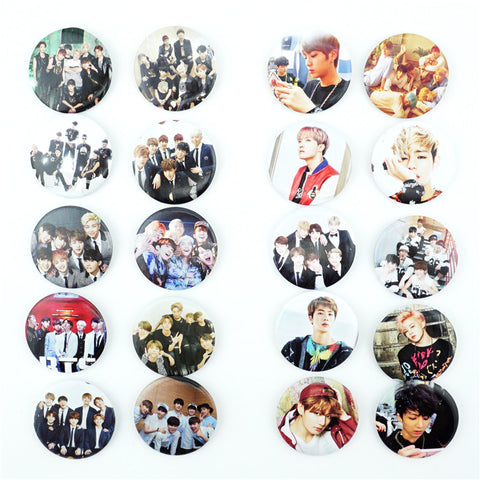 10Pcs/Set Korea Kpop BTS Bangtan Boys BT21 Pins Badges Brooch Chest Ornament Of the Clothing Accessoies Collection Cosplay Gift