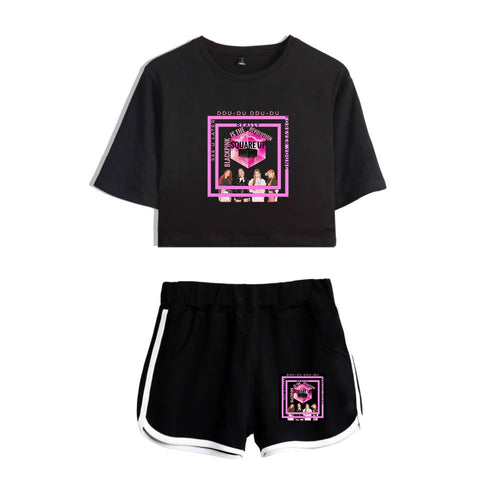 Blackpink 2 Piece Outfits For Women Women Sets Two Piece Kpop Fashion Bts Black Pink 2 Piece Sets Summer Set