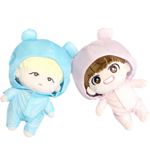 PCMOS KPOP BTS Bangtan Boys Plush Toy's Clothes Raincoat Only the Outfit (NOT Include the Stuffed Doll) Gift Collection