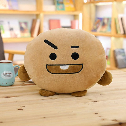 "12""-15"" Kpop BTS BT21 ARMY VAN SHOOKY COOKY TATA CHIMMY Cartoon Bangtan Boys Pillow Stuff Plush Toy Doll for BTS fan cushion"