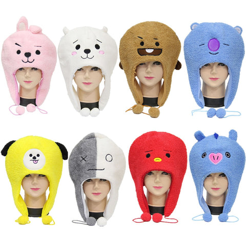 BTS Plush Toys Hat BT21 Doll Tata Van Cooky Chimmy Shooky Koya MANG Toy Clothing & Accessories for Plush Stuff Party Performance
