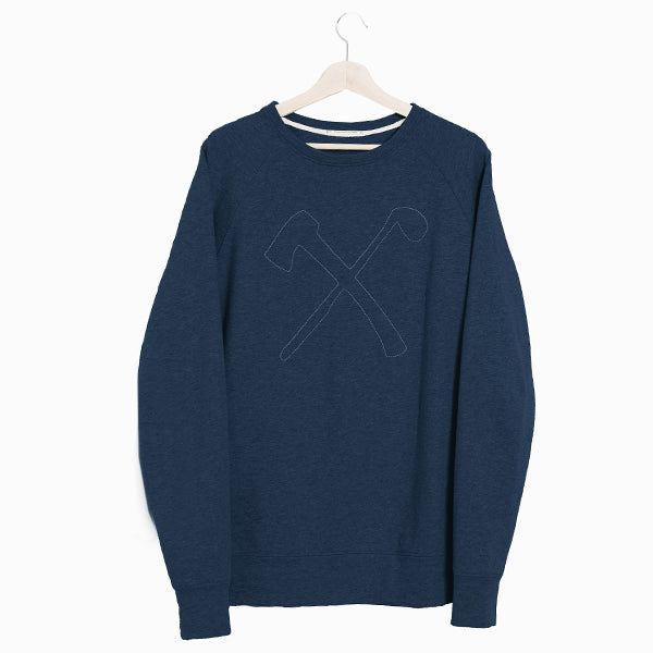 Sweat - organic cotton - Club&Axe - Navy