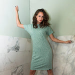 Dress - recycled sweat fabric - Green Melangeº