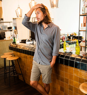 Chino Walkshort - Organic Cotton + 3% elastane - Walnut