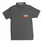 Poloshirt Basic - Antraciet grijs - met DRIFTWOOD badge