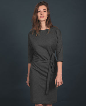 Dress - recycled sweat fabric - Grey Melangeº