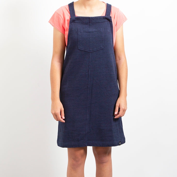 Dress - Dungaree - recycled sweat fabric - NAVYº