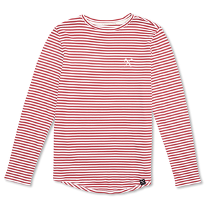 Longsleeve organic cotton - interlock striped - Blue/white and Red/White