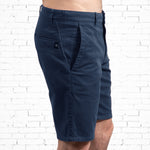 Chino Walkshort - Organic Cotton + 3% elastane - Navy Blue