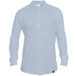 Shirt - Organic Jersey - light Blue - hidden button down