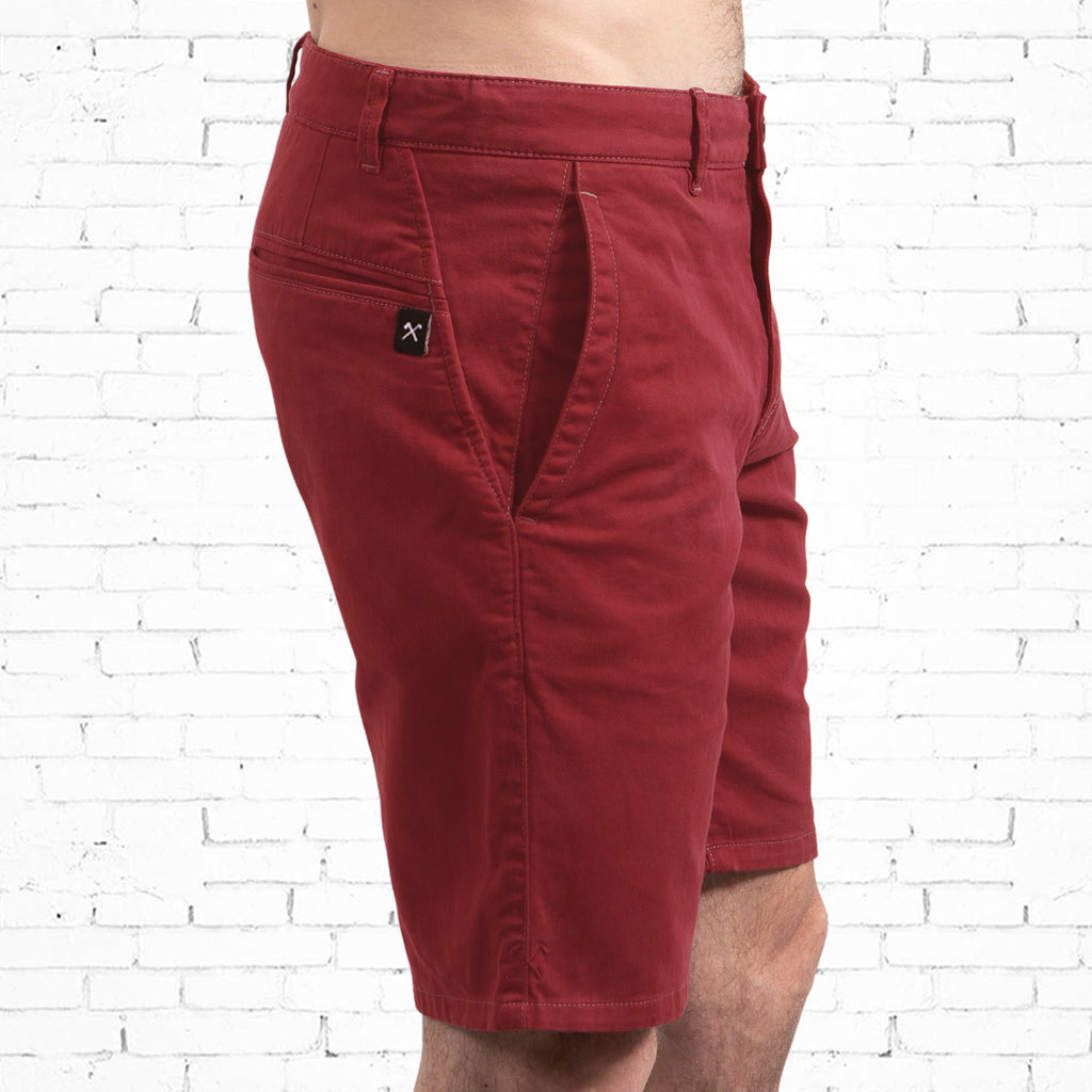 Chino Walkshort - Organic Cotton + 3% elastane - Red