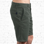 Chino Walkshort - Organic Cotton + 3% elastane - Army Green