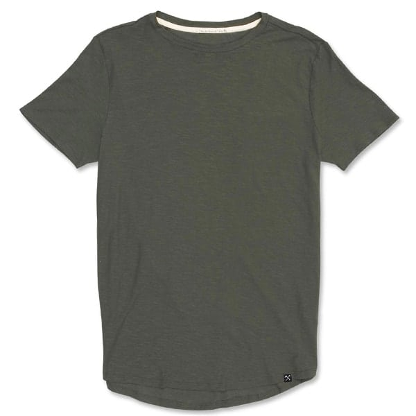 ARMY GREEN ORGANIC SLUB T-SHIRT