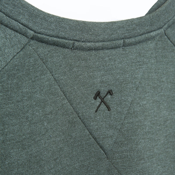 SWEAT - COTTON + REC POLY - C&A - DARK GREEN