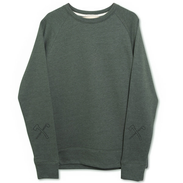 Sweat - organic cotton + recycled polyester - C&A - Army Green