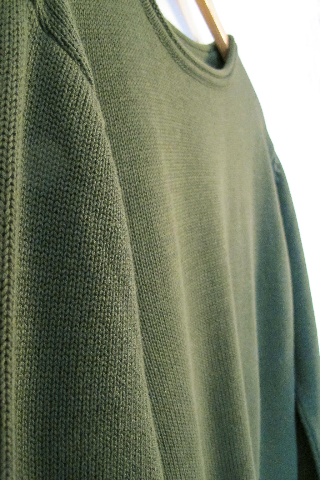 Pullover - organic knit - Army Green
