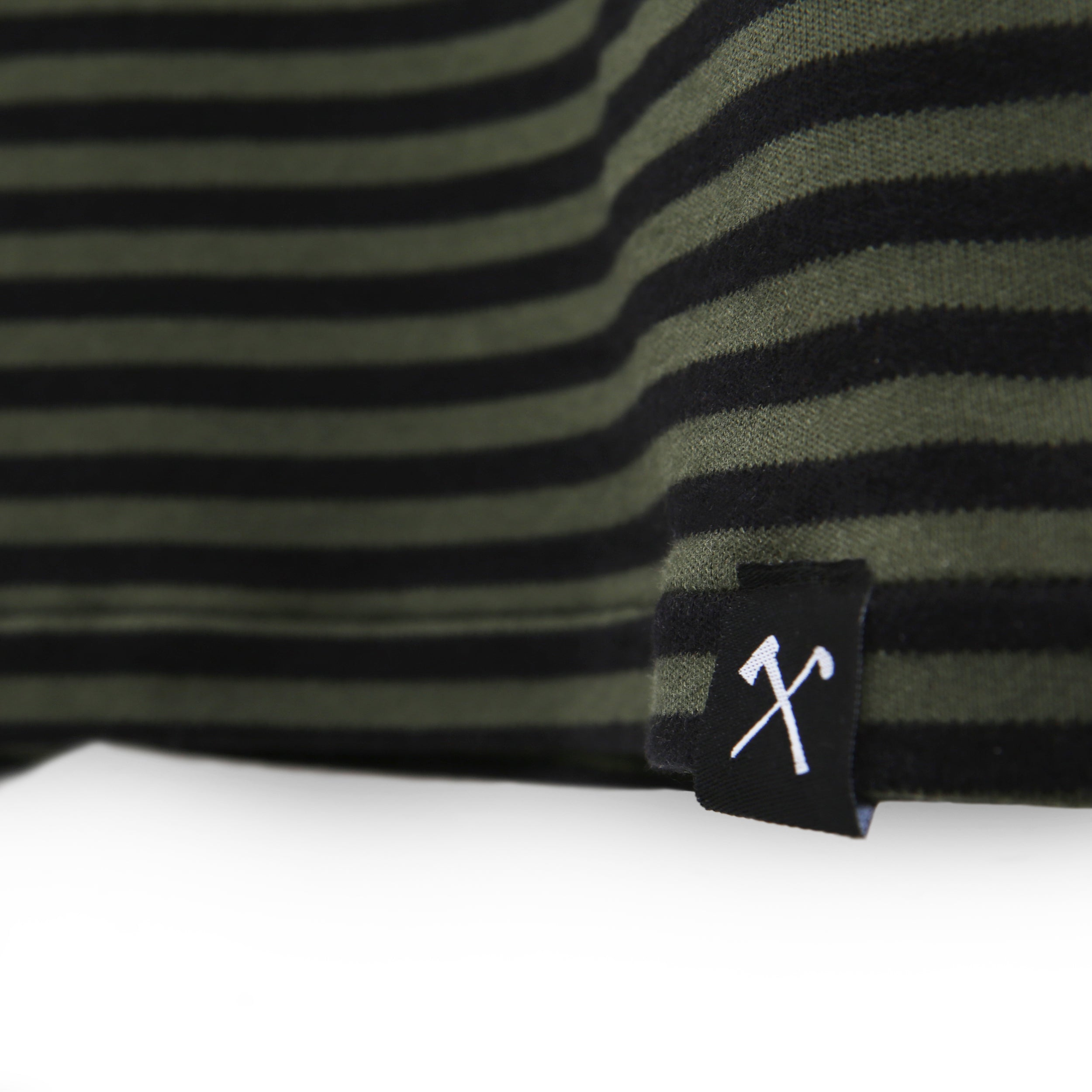 Dress - striped jersey fabric - Army/Blackº