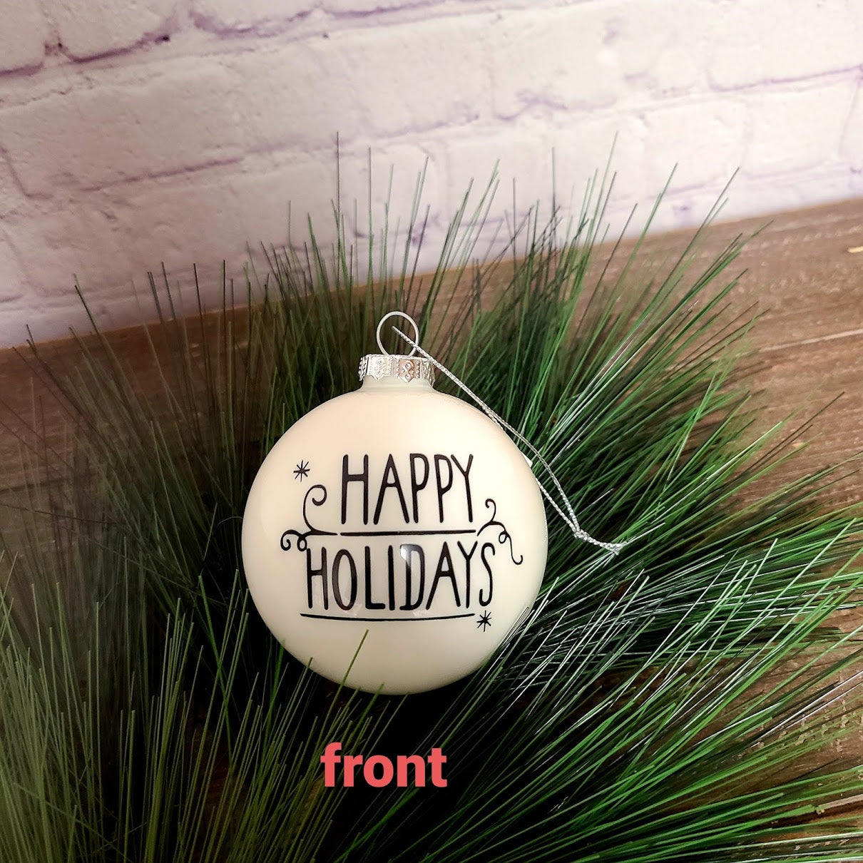 Happy Holiday Ornament