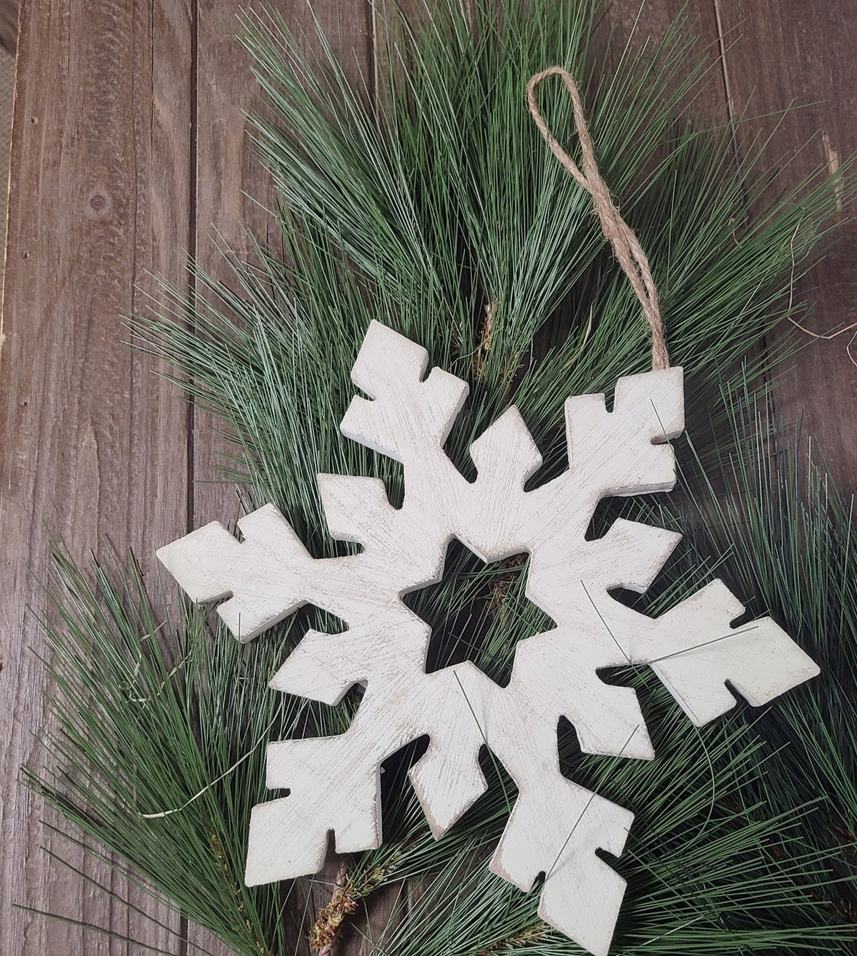 Whitewash Snowflake Ornament